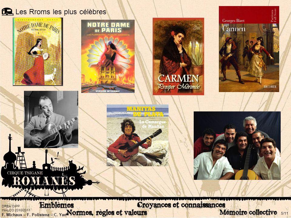 DREA OIPP INALCO 2010/2011 F. Michaux – F. Polistena – C. Yan 5/11 Les Rroms les plus célèbres