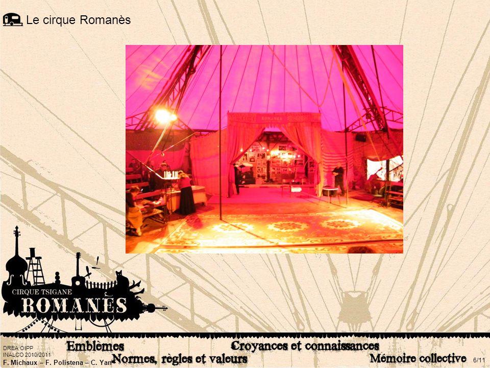 DREA OIPP INALCO 2010/2011 F. Michaux – F. Polistena – C. Yan 6/11 Le cirque Romanès