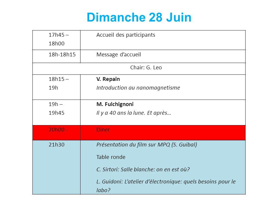17h45 – 18h00 Accueil des participants 18h-18h15Message daccueil Chair: G.