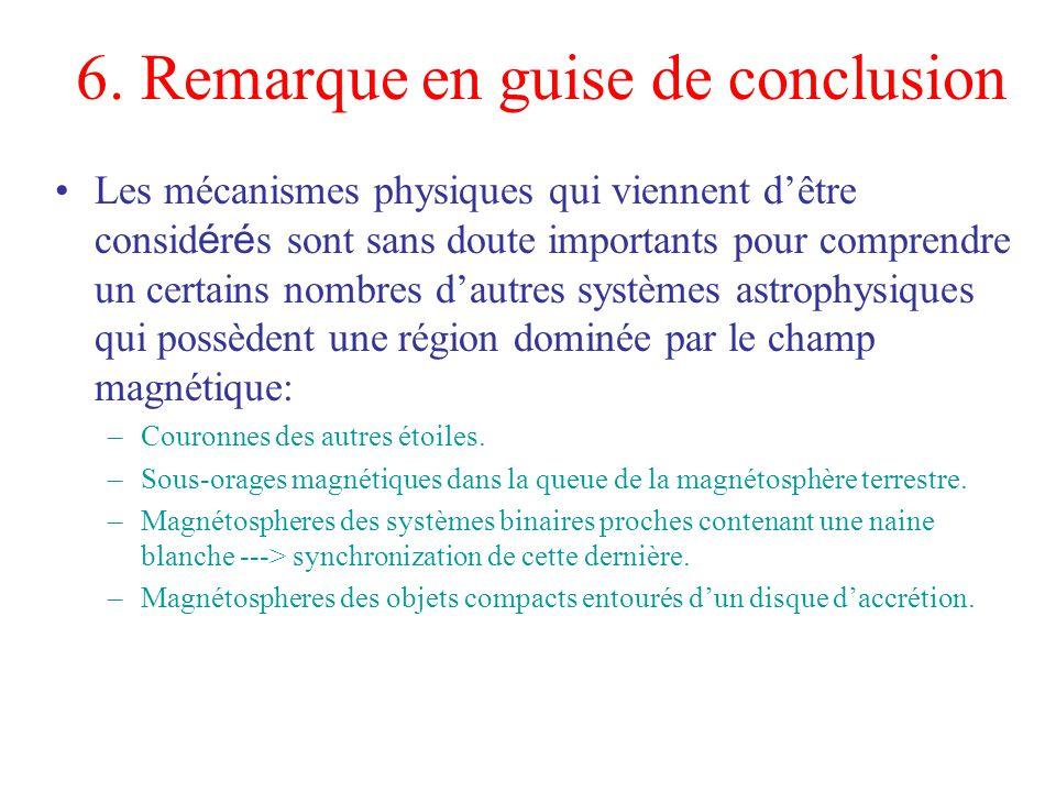 6. Remarque en guise de conclusion Les mécanismes physiques qui viennent dêtre consid é r é s sont sans doute importants pour comprendre un certains n