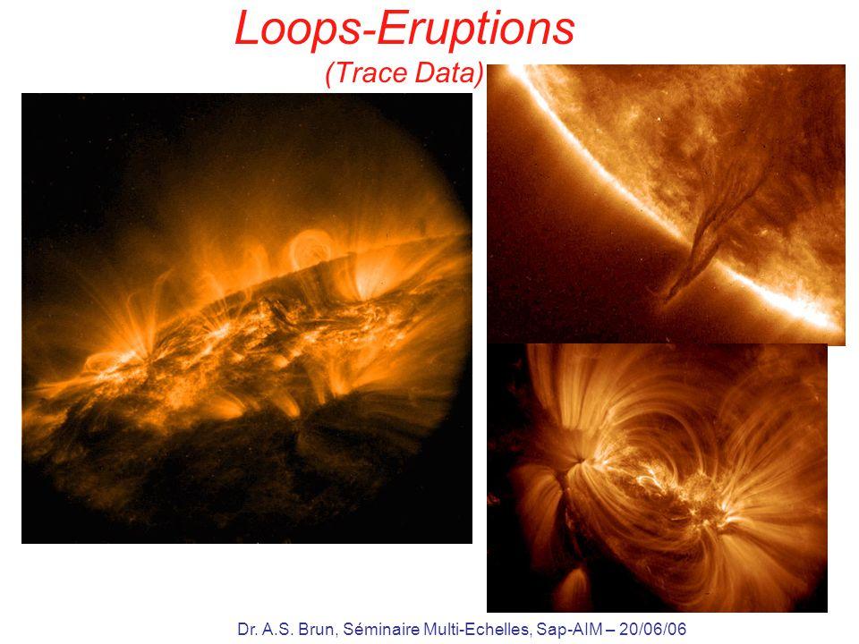Dr. A.S. Brun, Séminaire Multi-Echelles, Sap-AIM – 20/06/06 Loops - Eruptions (Trace Data)
