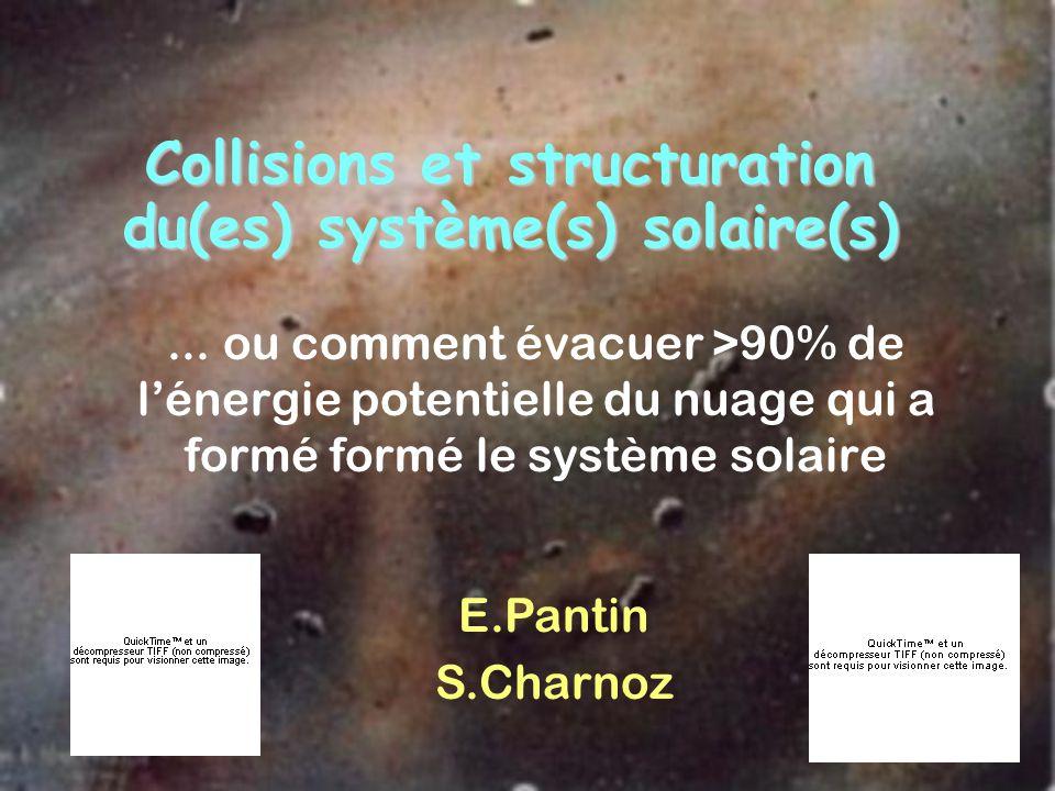 Collisions et structuration du(es) système(s) solaire(s)... ou comment évacuer >90% de lénergie potentielle du nuage qui a formé formé le système sola