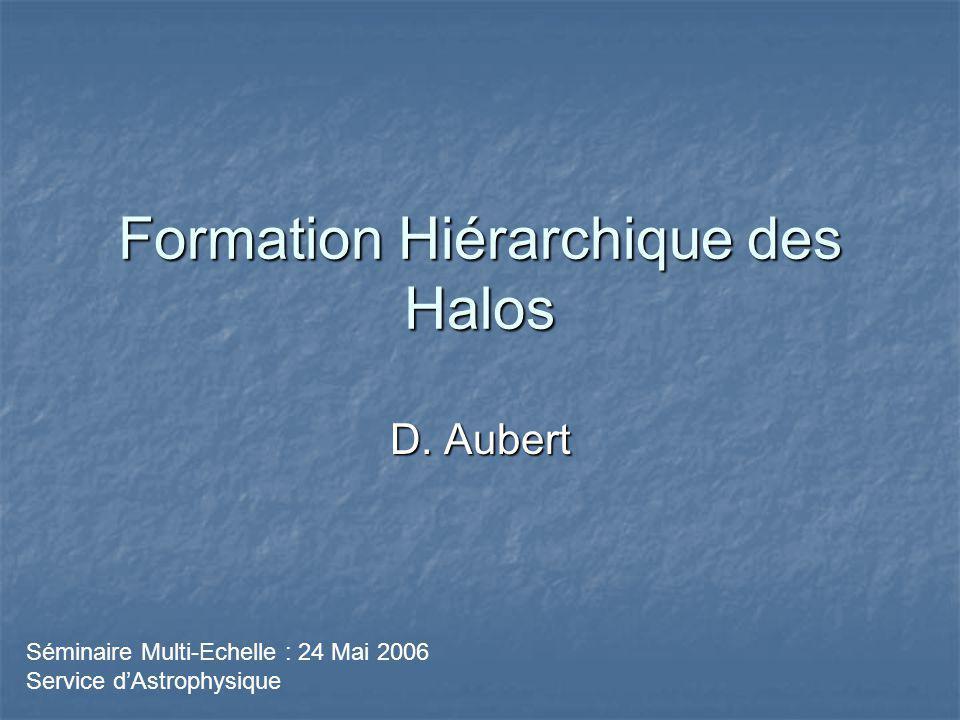 Formation Hiérarchique des Halos D.