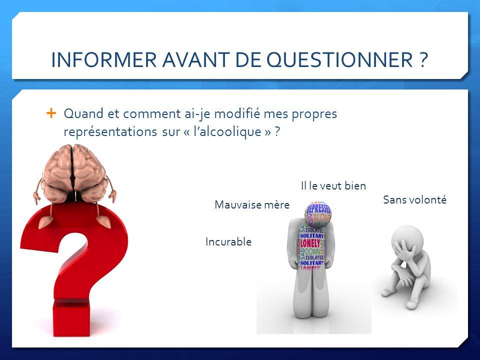 INFORMER AVANT DE QUESTIONNER .