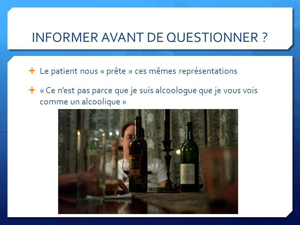 DE LINFORMATION À LALLIANCE THÉRAPEUTIQUE Alcoolisme maladie .