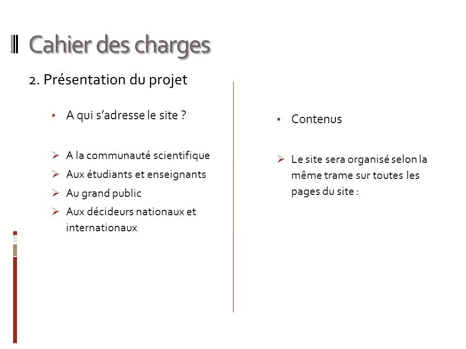 Cahier des charges 2.Présentation du projet A qui sadresse le site .