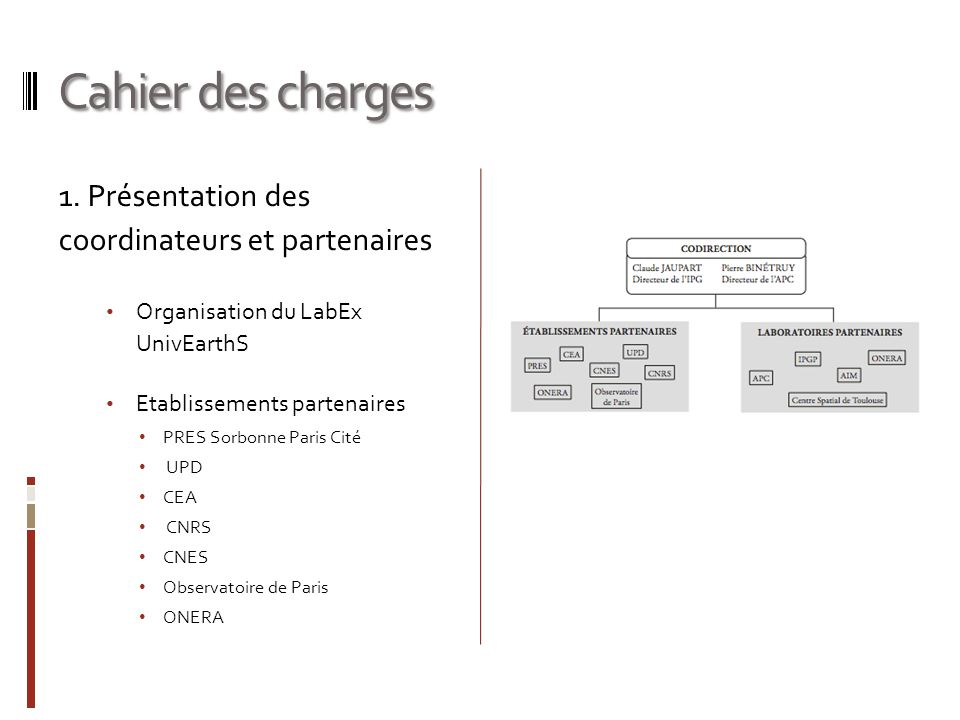 Cahier des charges 1.
