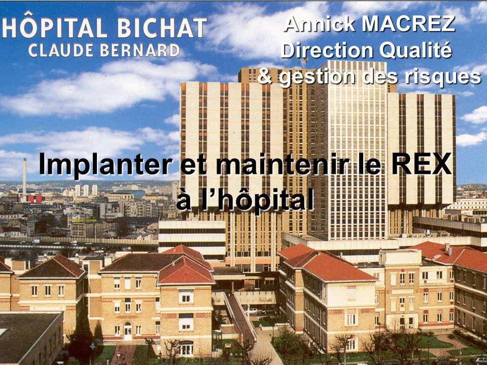 Implanter et maintenir le REX à lhôpital Annick MACREZ Direction Qualité & gestion des risques
