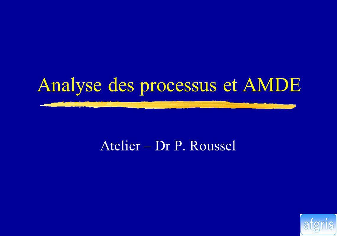 Analyse des processus et AMDE Atelier – Dr P. Roussel