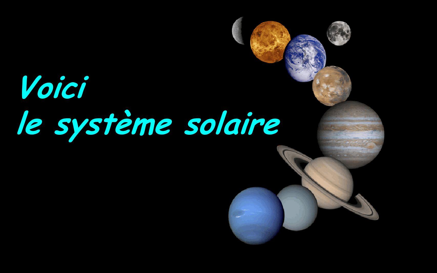 Voici le système solaire