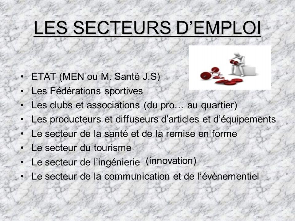 LES SECTEURS DEMPLOI ETAT (MEN ou M.