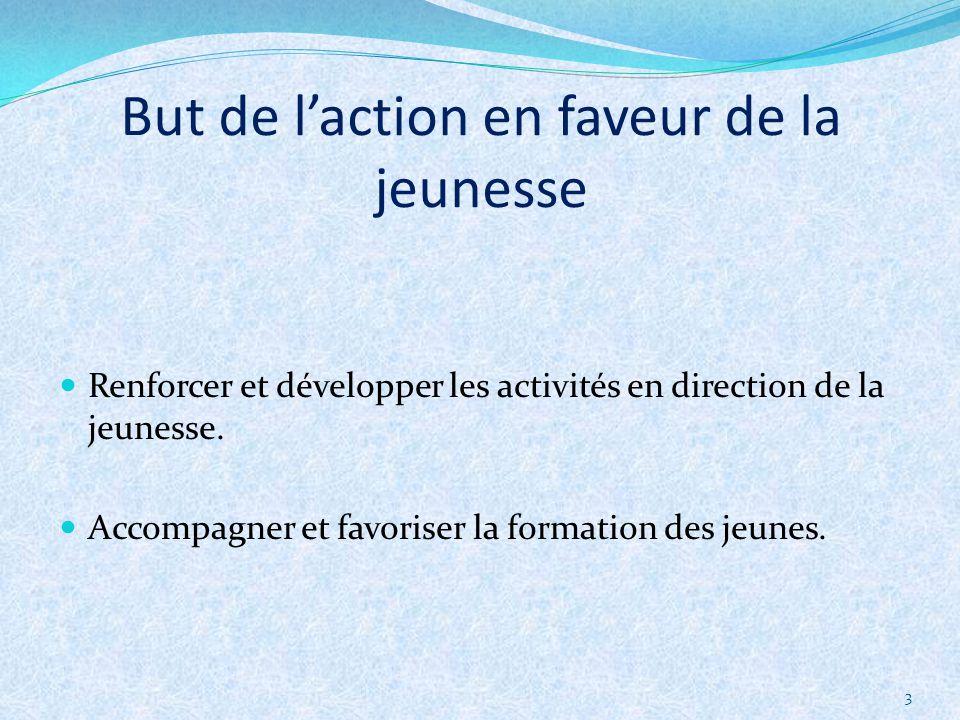 3 Renforcer et développer les activités en direction de la jeunesse.