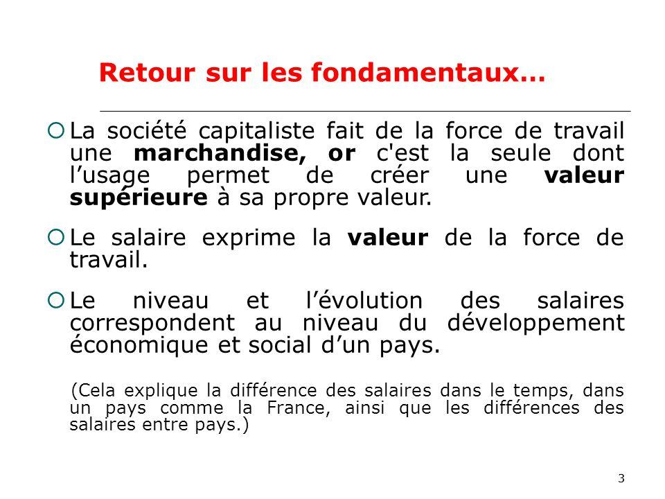 33 La société capitaliste fait de la force de travail une marchandise, or c est la seule dont lusage permet de créer une valeur supérieure à sa propre valeur.