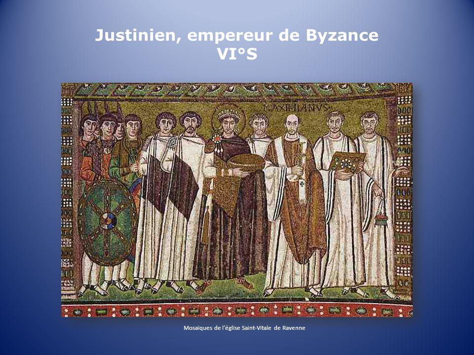 Justinien, empereur de Byzance VI°S Mosaïques de léglise Saint-Vitale de Ravenne