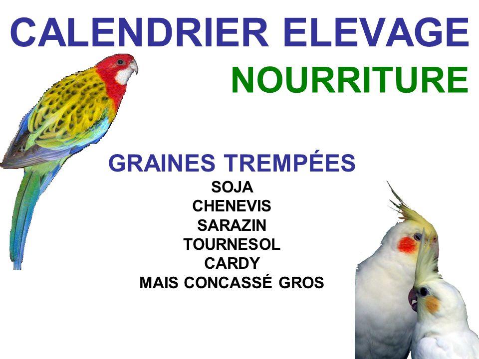CALENDRIER ELEVAGE GRAINES TREMPÉES SOJA CHENEVIS SARAZIN TOURNESOL CARDY MAIS CONCASSÉ GROS NOURRITURE