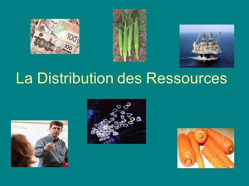 La Distribution des Ressources