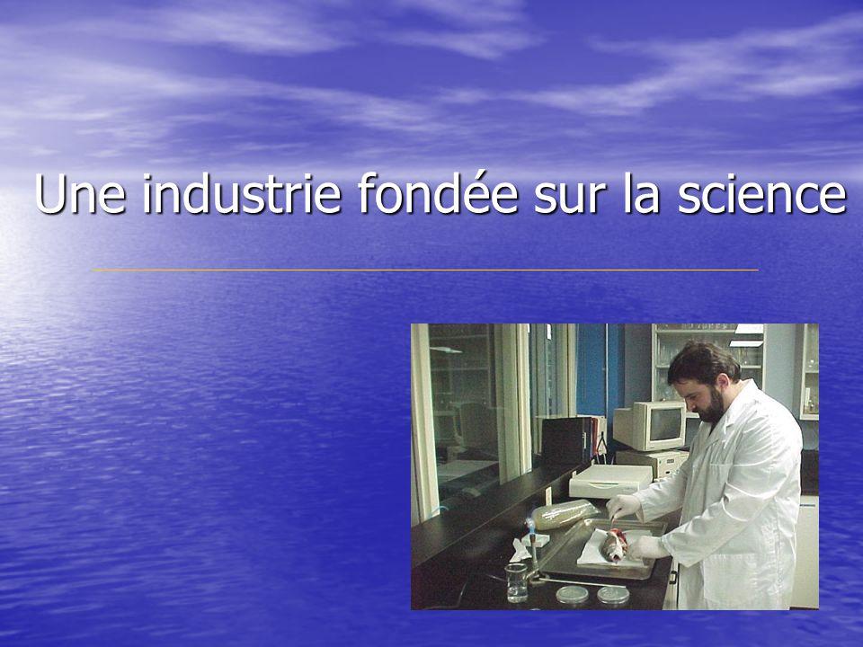 Une industrie fondée sur la science