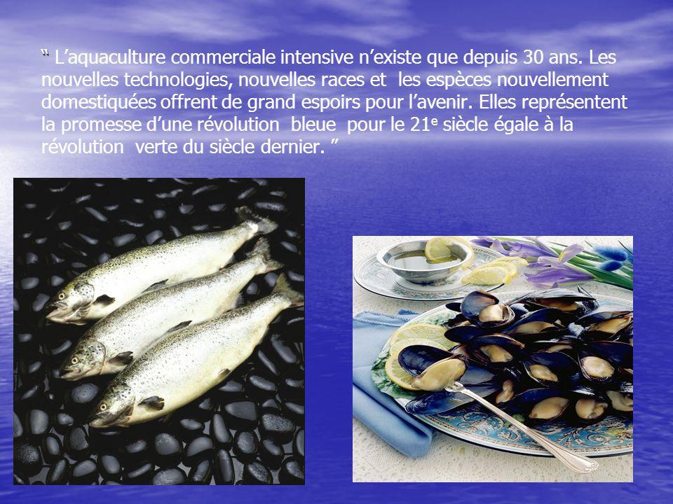 Production mondiale de poissons et fruits de mer (FAO) 19751985199520102030 0 20 40 60 80 100 120 140 160 180 200 AquaculturePêche