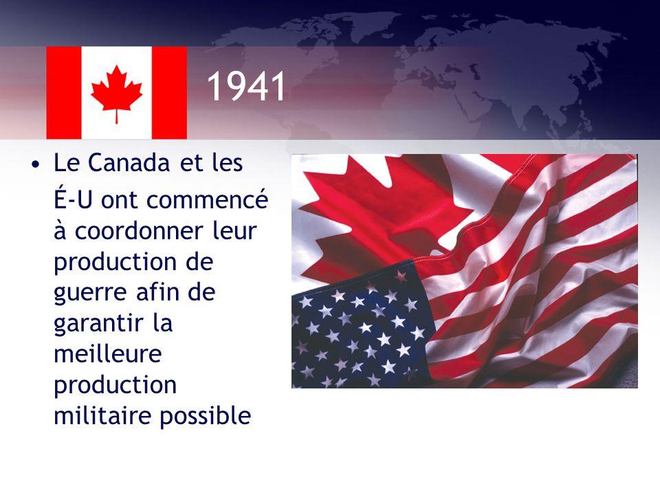 1940 La Loi sur la mobilisation des ressources nationales a augmenté le pouvoir du gouvernement sur les habitants du Canada Ex: Le gouvernement a dit que les agriculteurs et les mineurs nétaient pas permis à sengager dans larmée, car leur travail était considéré essentiel pour leffort de guerre.