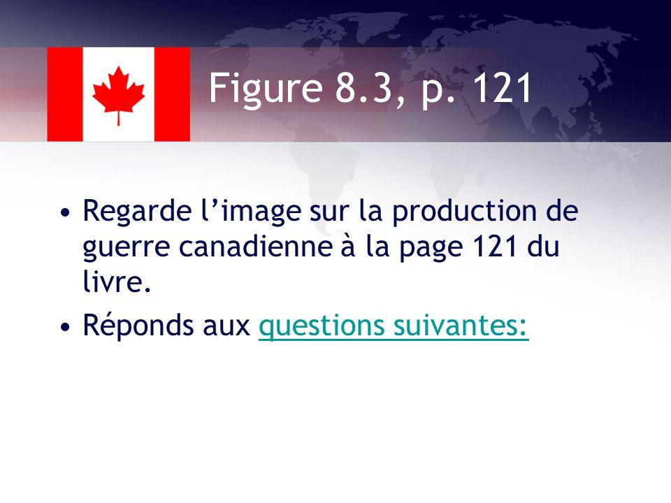 1942 Le Canada était une source importante darmes et de ravitaillement pour la G-B et lUnion soviétique contre lAllemagne.