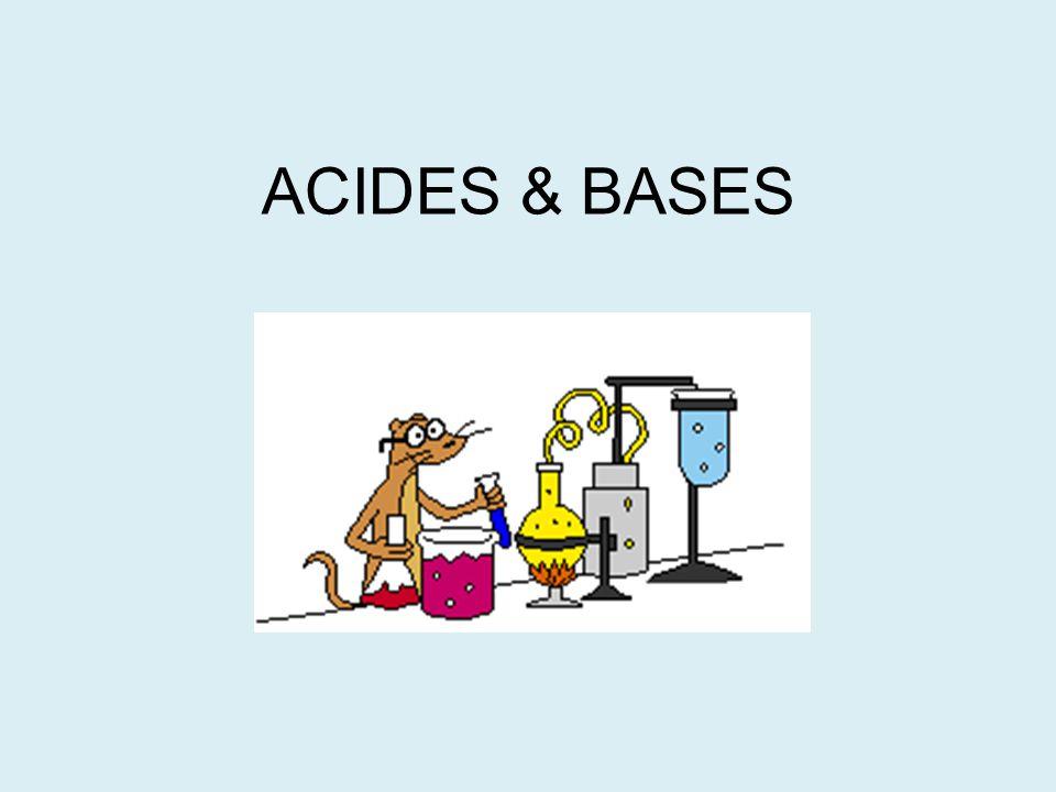 Acides Ont un goût aigre (si comestible) Corrosive (peut brûler or dégrader) Cause le tournesol bleu de devenir rouge
