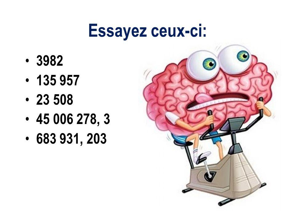 Sil y a des décimaux parmi les chiffres dun nombre, il faut les inclure dans la forme développée.