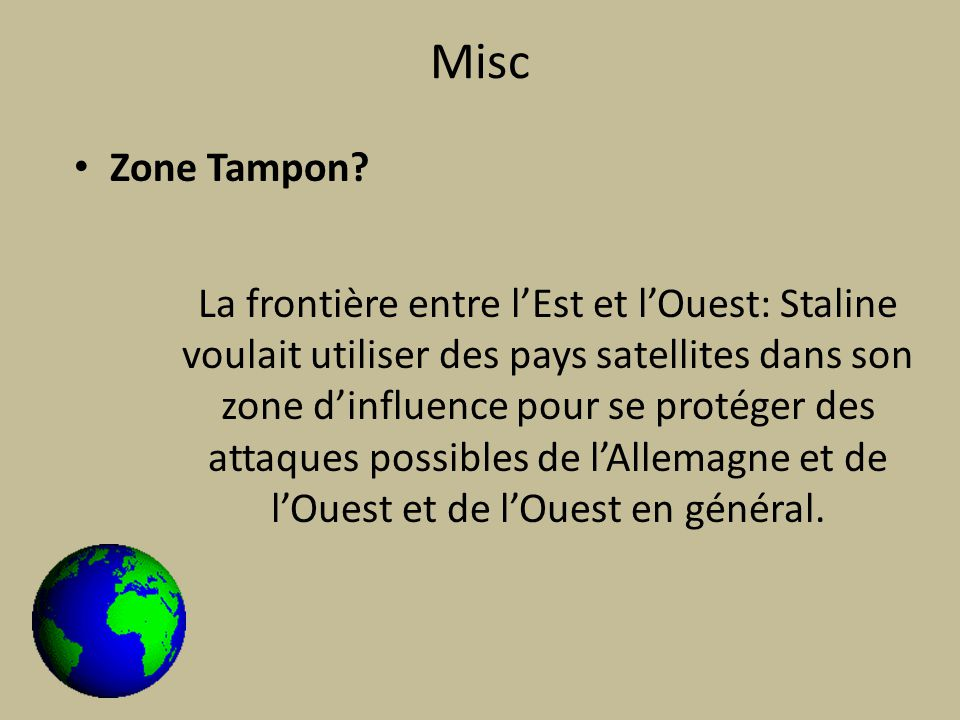 Misc Zone Tampon.