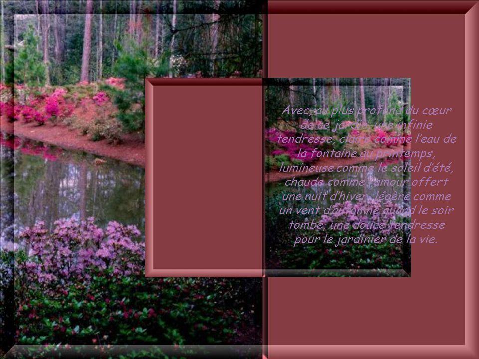 Cliquez pour débuter Les choses changèrent quand le jardin sautorisa enfin à être « lauteur » de sa vie… Des fontaines jaillirent et arrosèrent la ter
