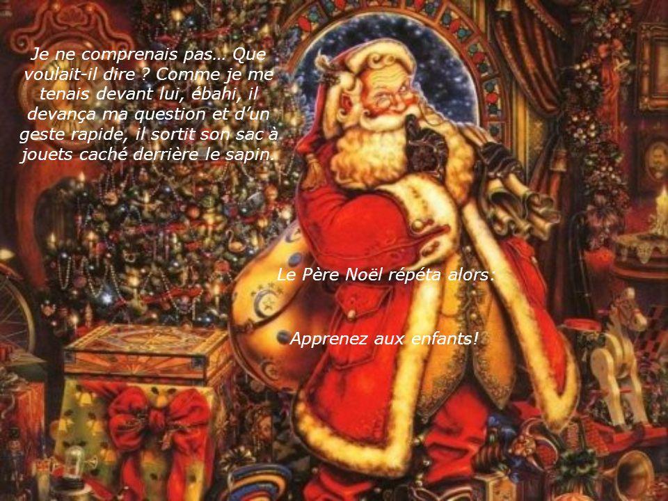 Le Père Noël jeta son sac sur son épaule et commença à accrocher une friandise en forme de canne à larbre.