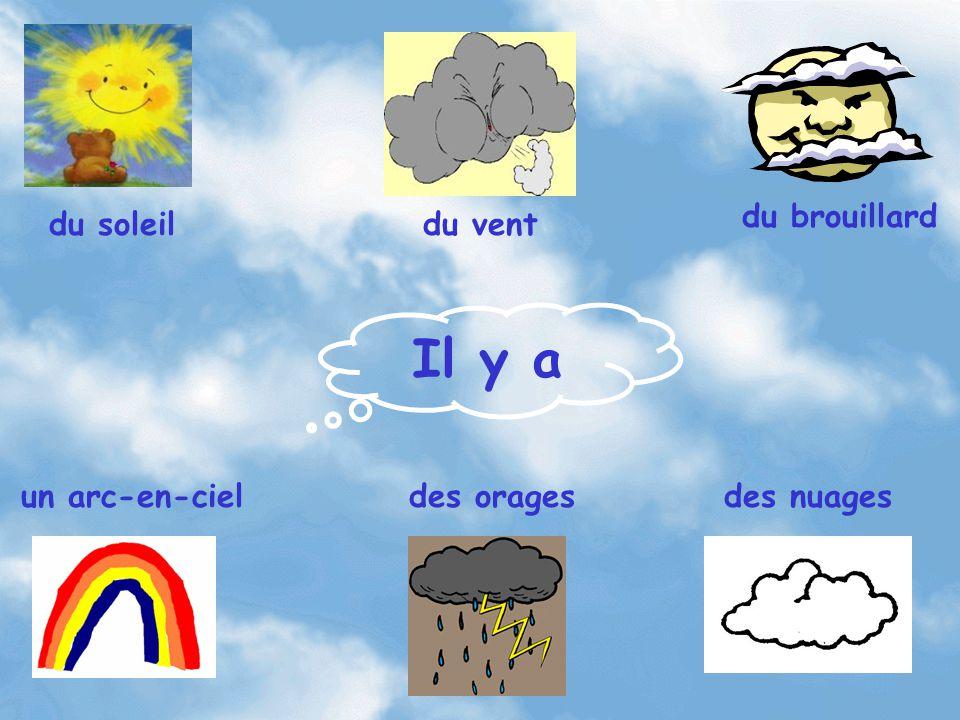 Il y a du soleildu vent du brouillard un arc-en-cieldes oragesdes nuages