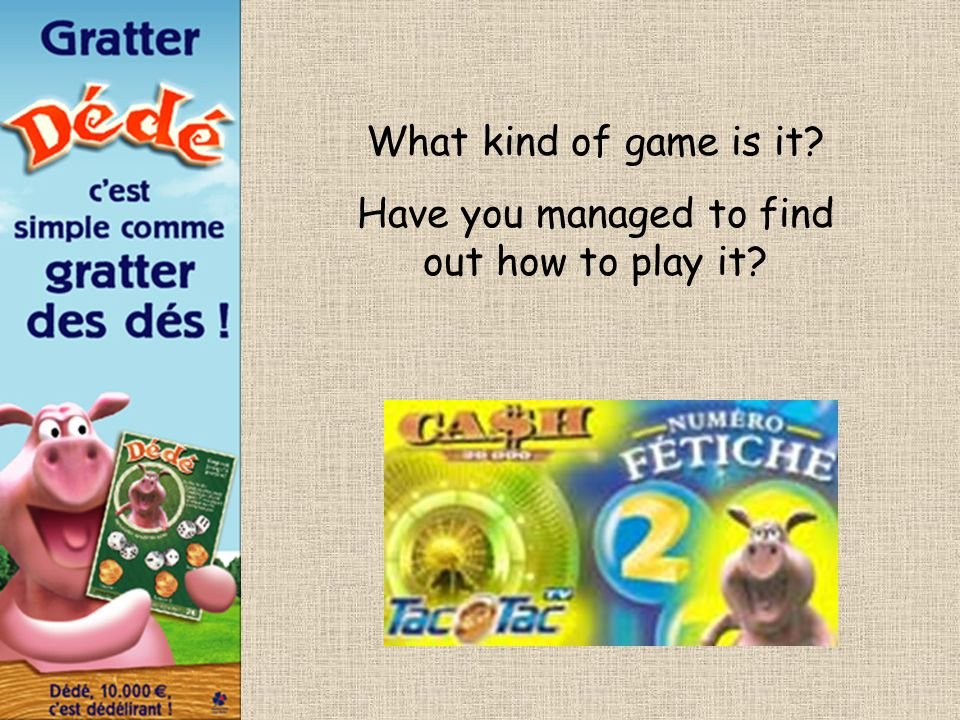 What kind of game is it? Have you managed to find out how to play it?