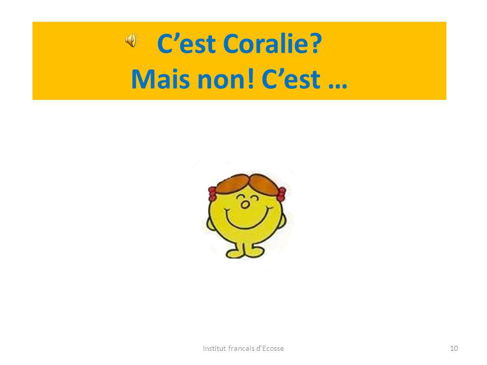 Do you remember who it is? Vous vous rappelez? Institut francais d'Ecosse9