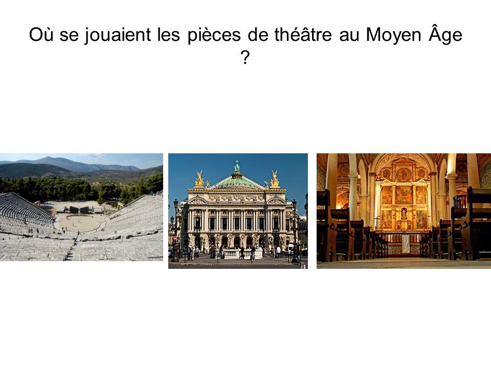 Où se jouaient les pièces de théâtre au Moyen Âge ?