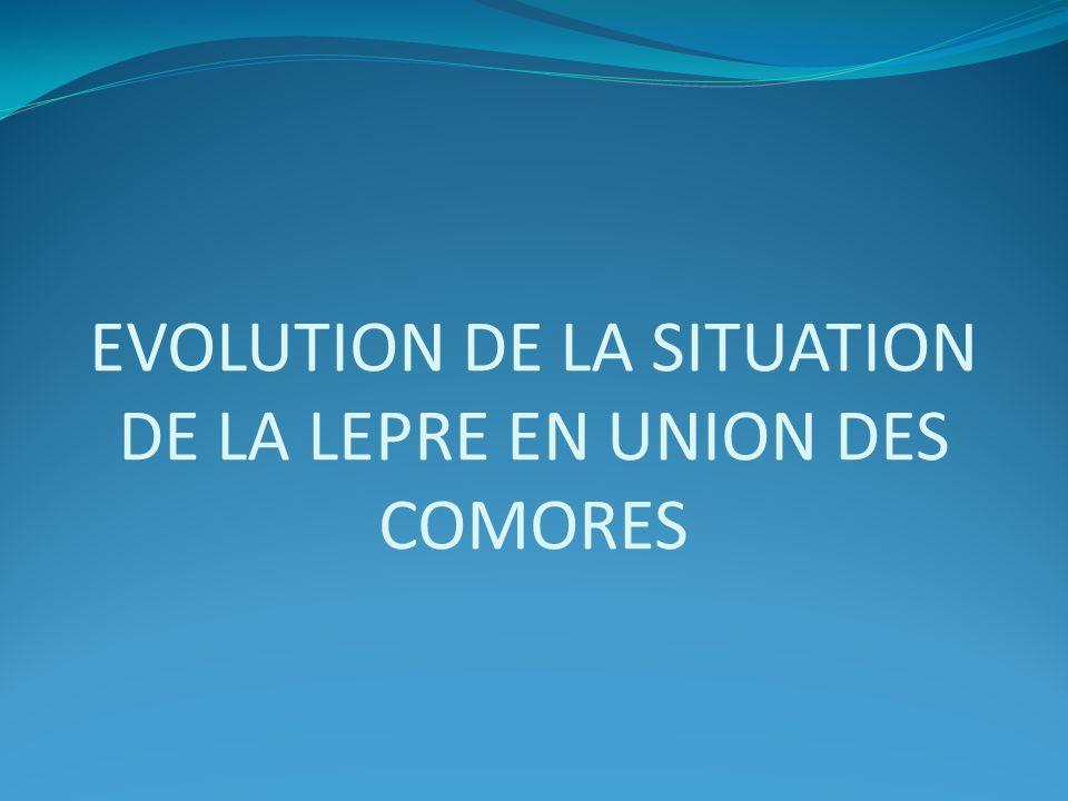 EVOLUTION DE LA SITUATION DE LA LEPRE EN UNION DES COMORES