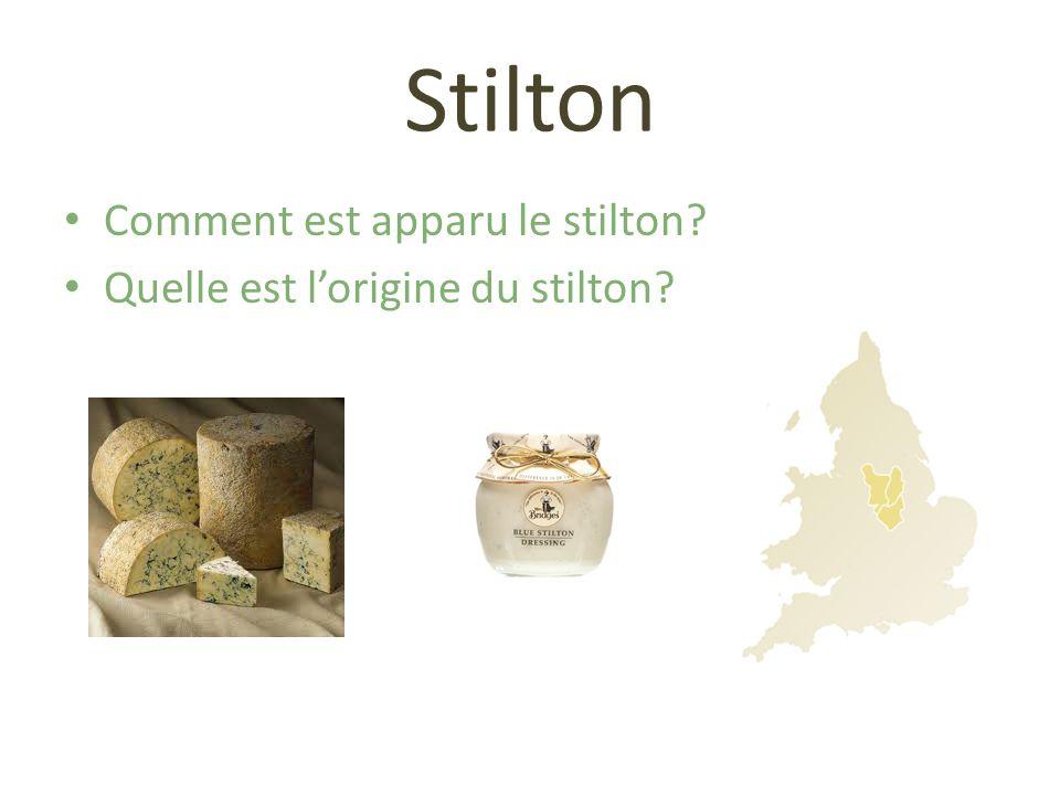 Stilton Comment est apparu le stilton? Quelle est lorigine du stilton?