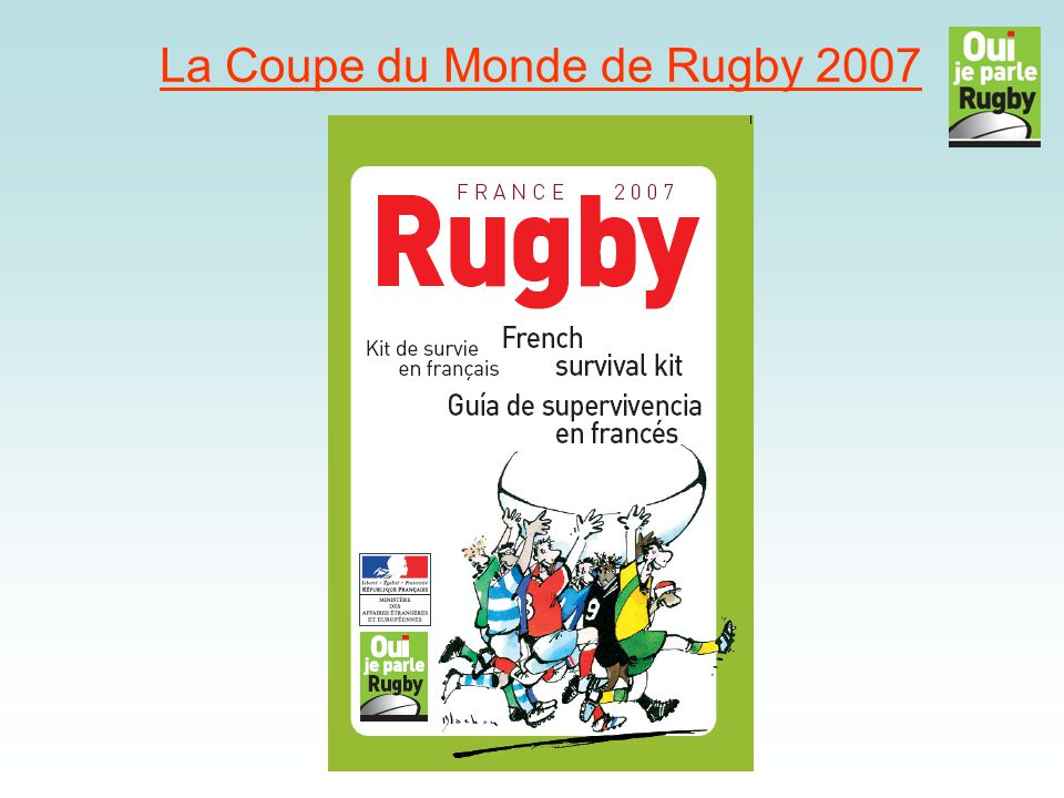 La Coupe du monde de rugby TROUVEZ LES ÉQUIPES.1.