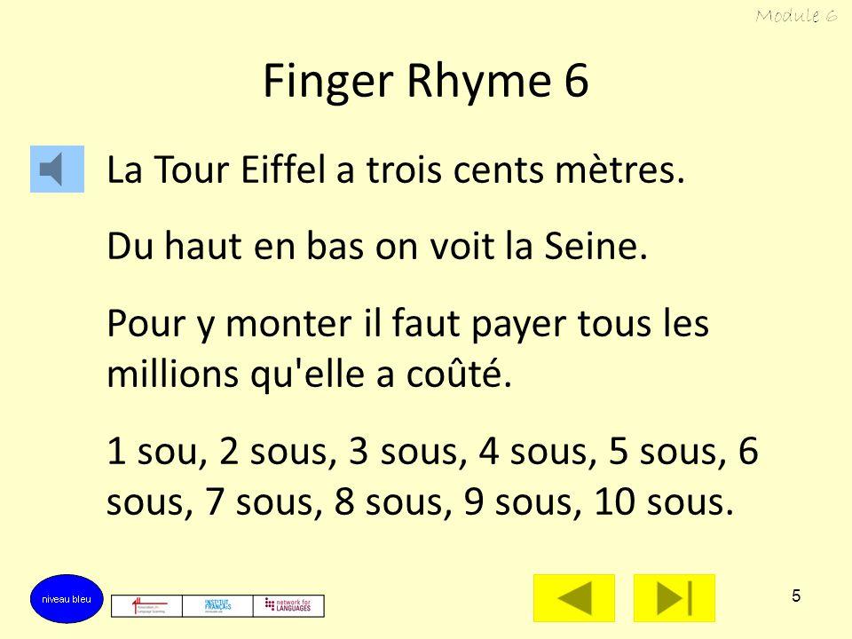 4 La Tour Eiffel a trois cents mètres. Du haut en bas on voit la Seine. Pour y monter il faut payer. From the top you can see the River Seine. To go u