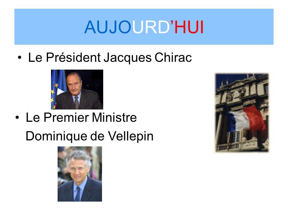 AUJOURDHUI Le Président Jacques Chirac Le Premier Ministre Dominique de Vellepin