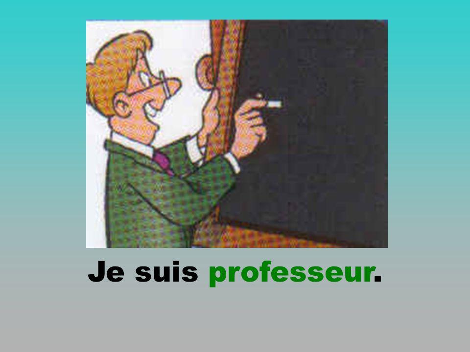 Je suis professeur.