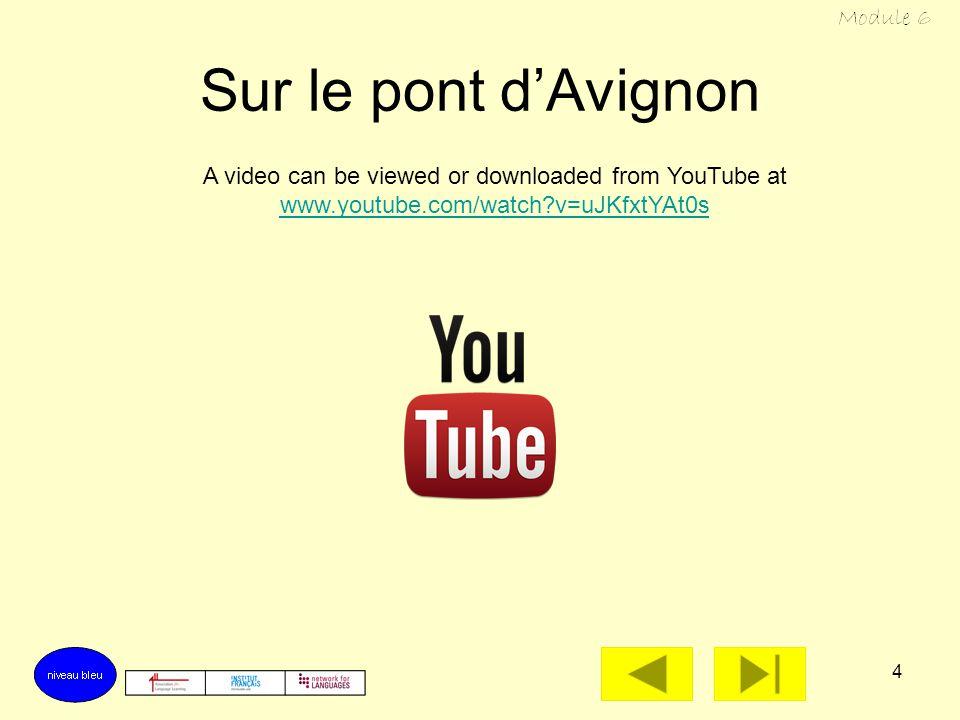 3 Sur le pont dAvignon Les belles dames font comme ça, Et puis encore comme ça. Refrain: Sur le pont d'Avignon, On y danse, on y danse Sur le pont d'A