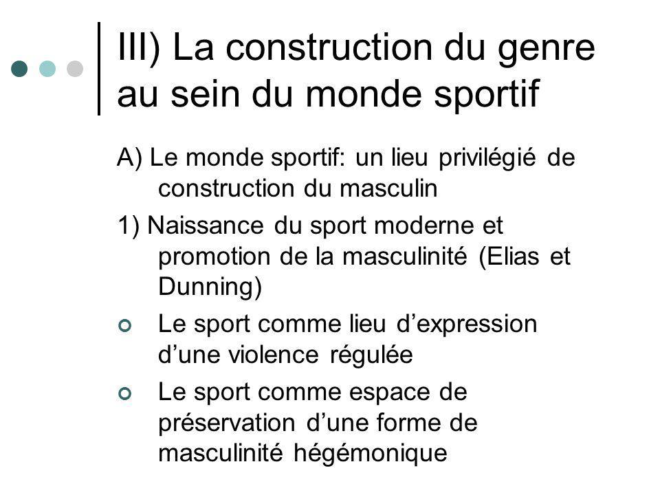III) La construction du genre au sein du monde sportif A) Le monde sportif: un lieu privilégié de construction du masculin 1) Naissance du sport moder