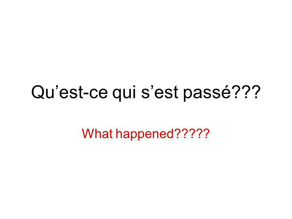 Quest-ce qui sest passé What happened