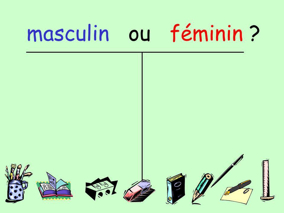 masculin ou féminin