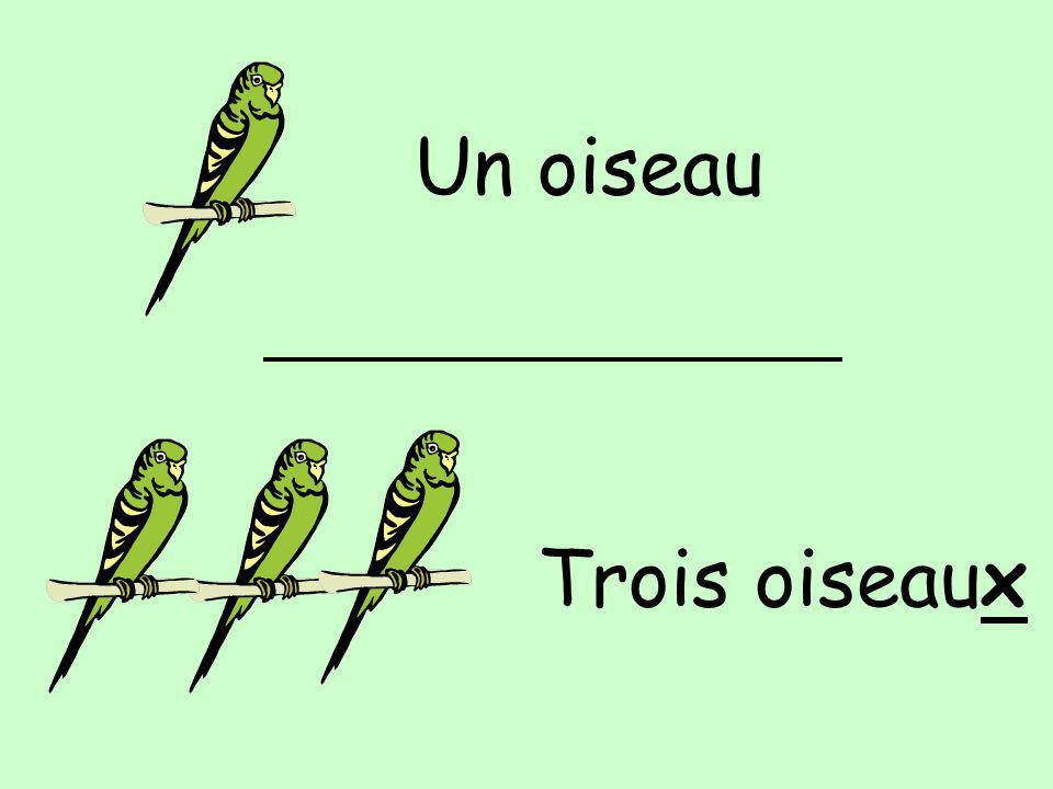 Un oiseau Trois oiseaux