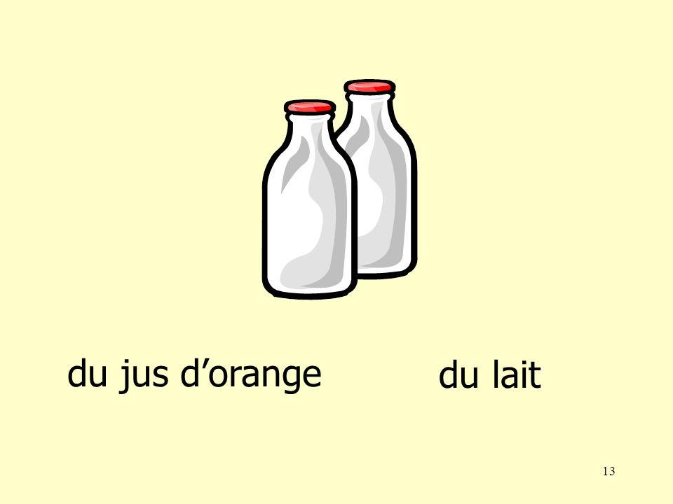 12 du jus dorangedu lait