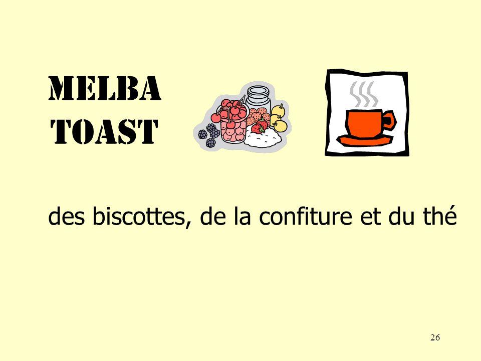 25 des croissants, de la confiture, du café et du sucre