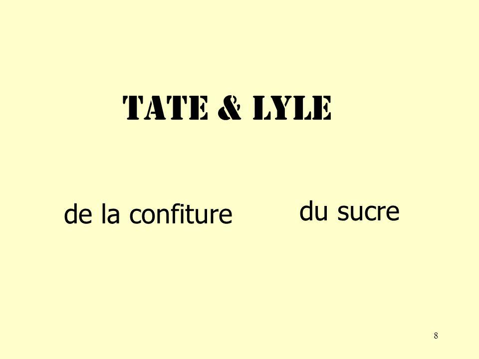 8 Tate & lyle de la confiture du sucre