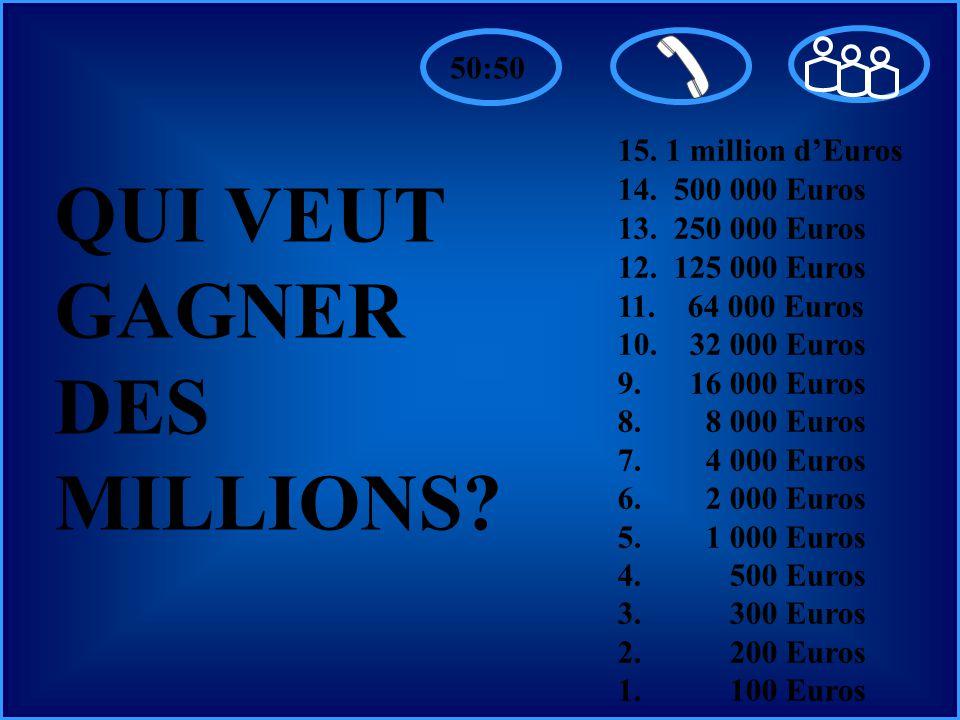 A:B: D:C: 15. 1 million dEuros 14. 500 000 Euros 13.