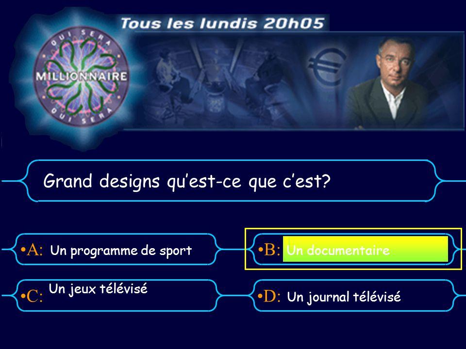 A:B: D:C: Grand designs quest-ce que cest.
