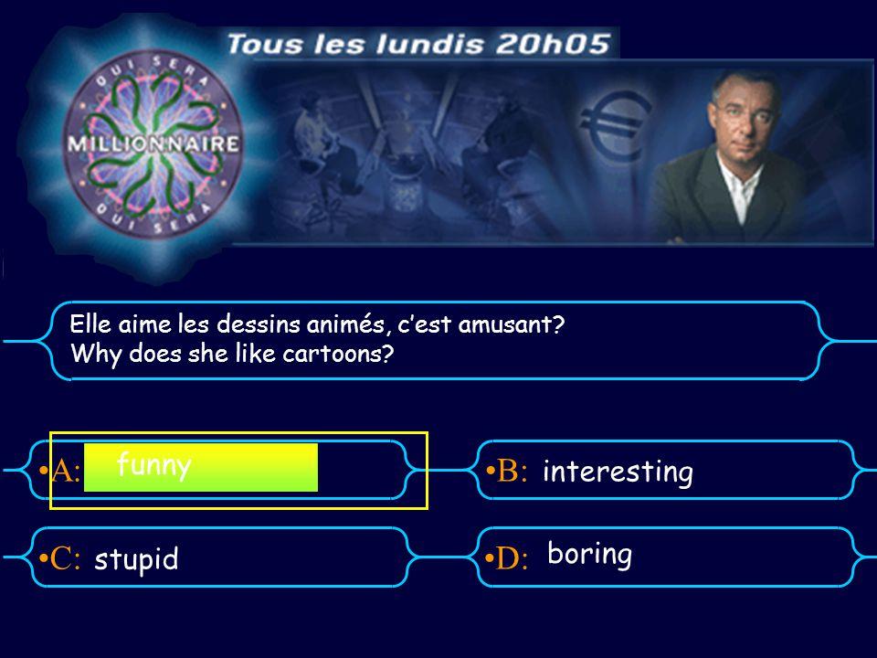 A:B: D:C: Il déteste la pub.What does he think about adverts.